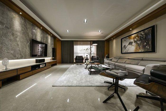 现代风格公寓酒店装修客厅设计