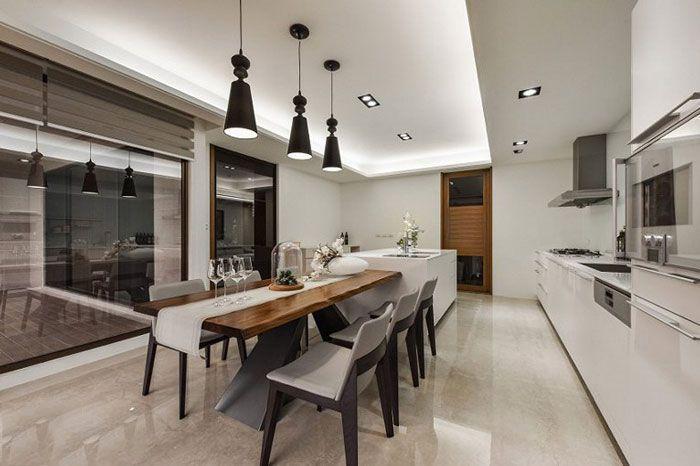 现代风格公寓酒店装修餐桌