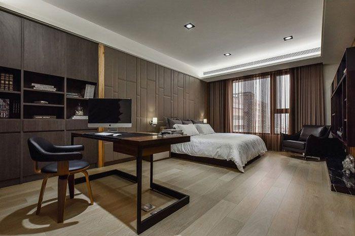 现代风格公寓酒店装修主卧