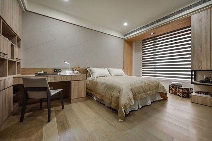 现代风格公寓酒店装修次卧