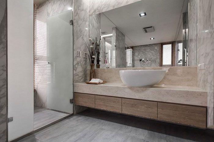 现代风格公寓酒店装修洗手间