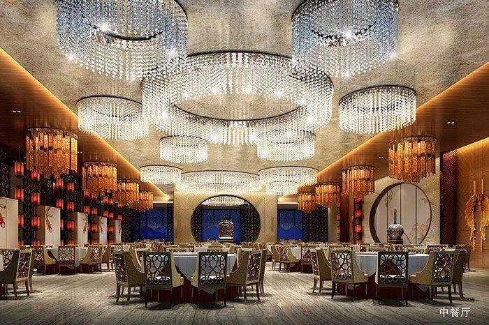 星级酒店装修中餐厅效果图