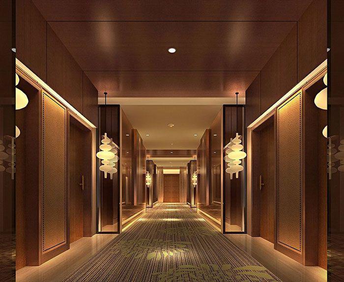 星级酒店装修客房走廊效果图
