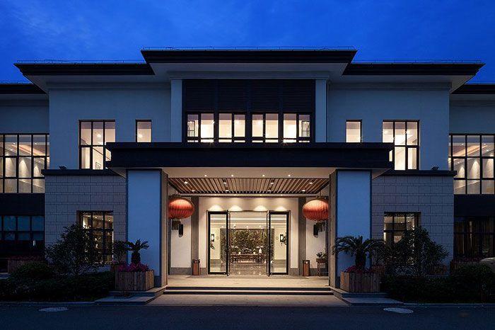新中式酒店效果图外景