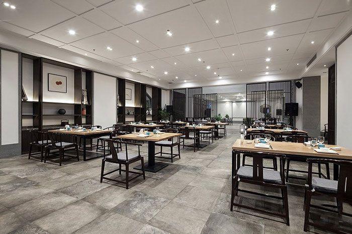 新中式酒店效果图餐厅空间
