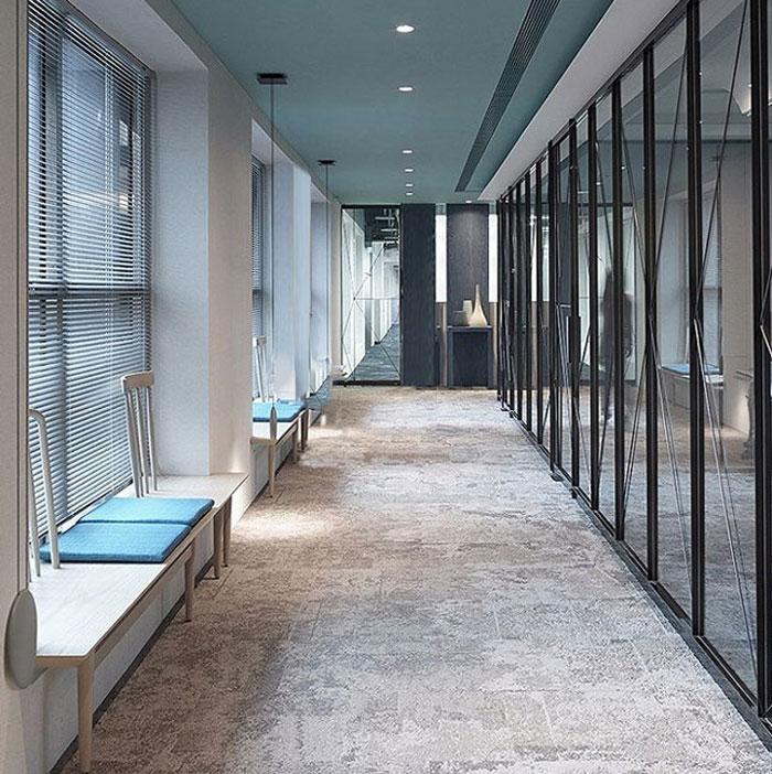 公司室内设计效果图 - 内部过道