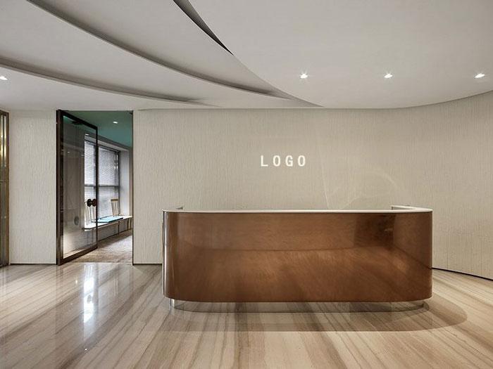 公司室内设计效果图 - 公司前台