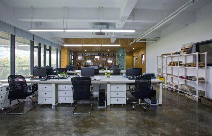 小型工作室装修效果图办公区域