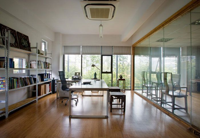 小型工作室装修效果图独立办公室