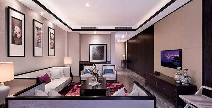 成都酒店设计客房小客厅