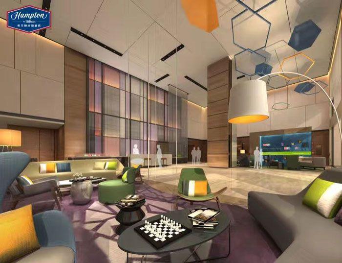 希尔顿酒店装修效果图大堂空间