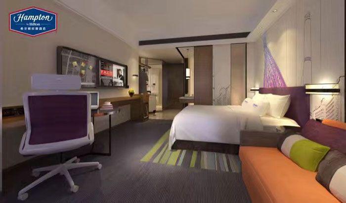 希尔顿酒店装修效果图大床房