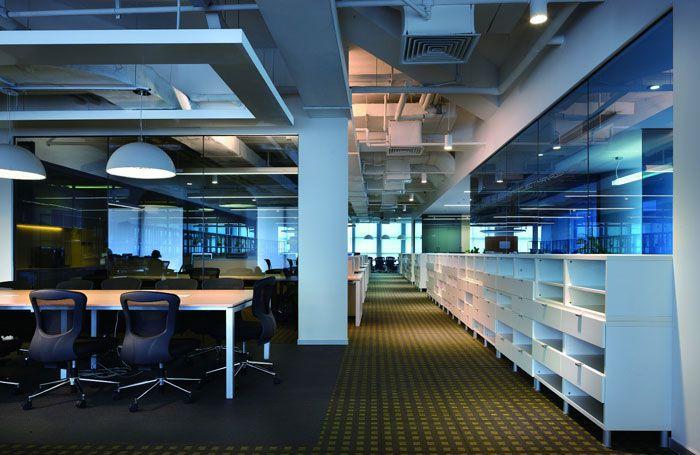 商务公司装修效果图大厅空间
