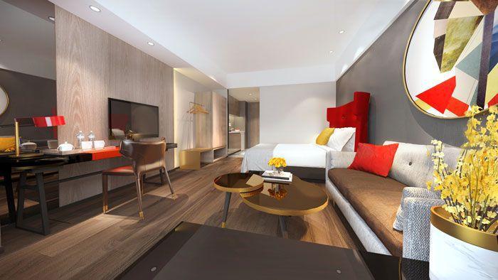 快捷酒店装修效果图客房空间