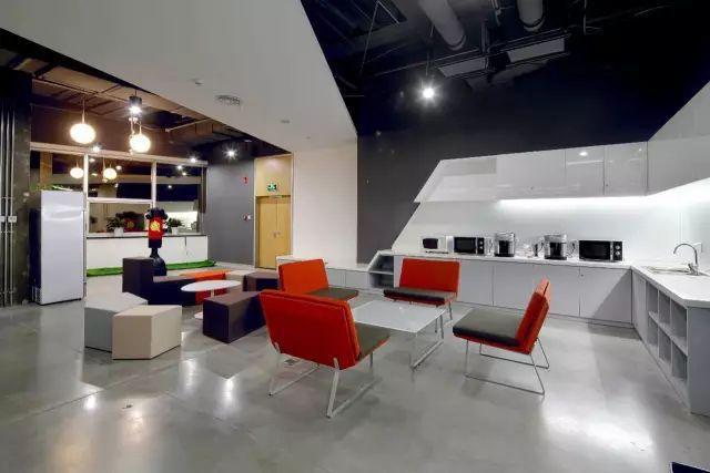 汽车模型办公室装修茶水区