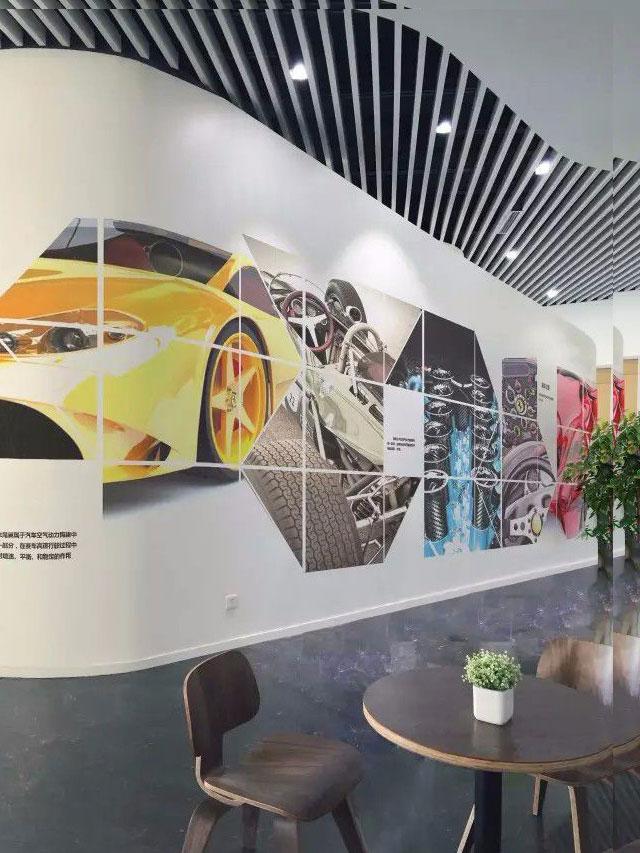 汽车模型办公室装修墙面装饰