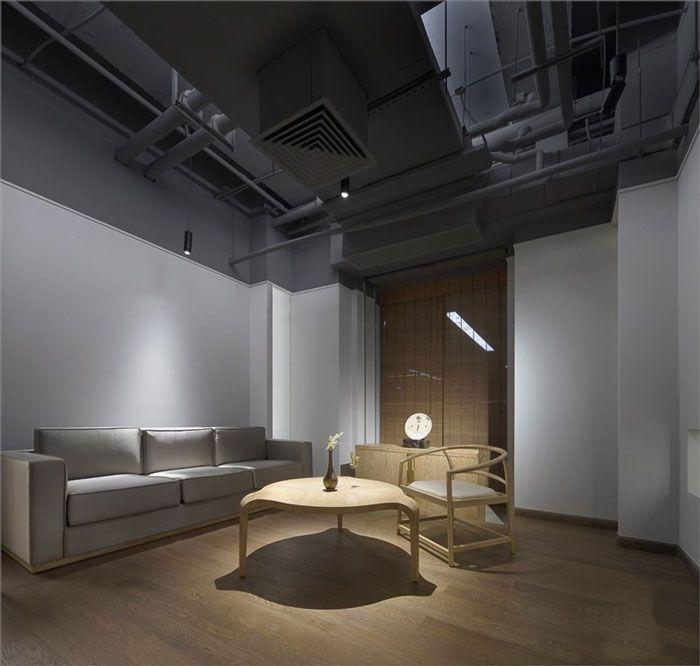 成都现代办公室装修接待区