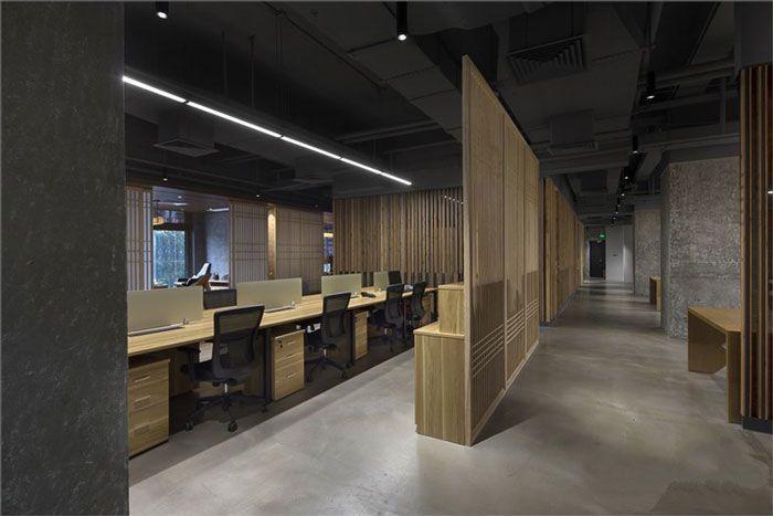 成都现代办公室装修办公区域