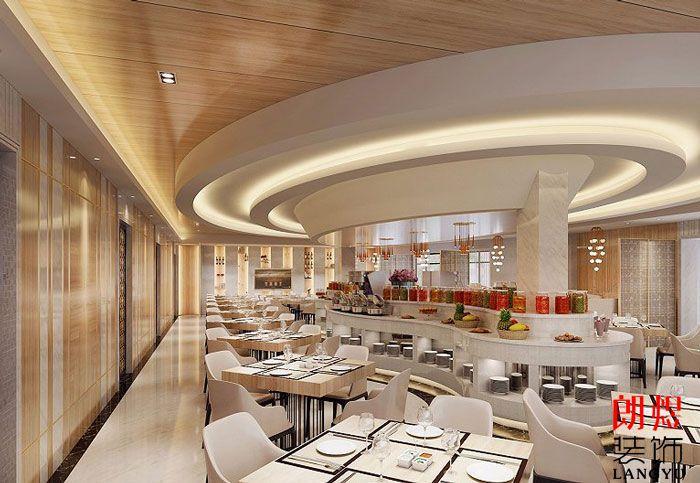 酒店装修设计效果图酒店西餐厅