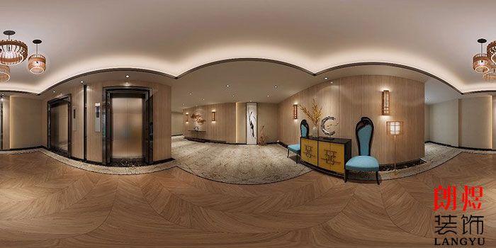 酒店装修设计效果图电梯厅