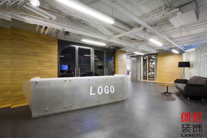 现代环保办公室装修前台
