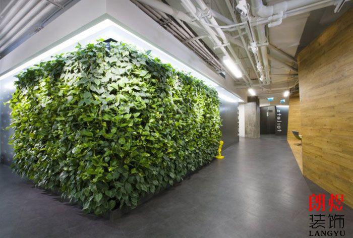 现代环保办公室装修墙面装饰