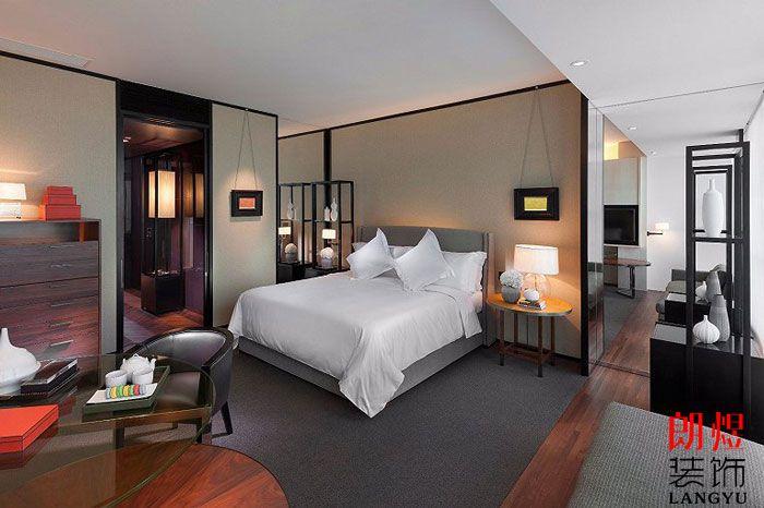 酒店套间装修单人床