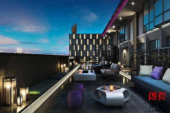 精品酒店装修设计效果图露天阳台