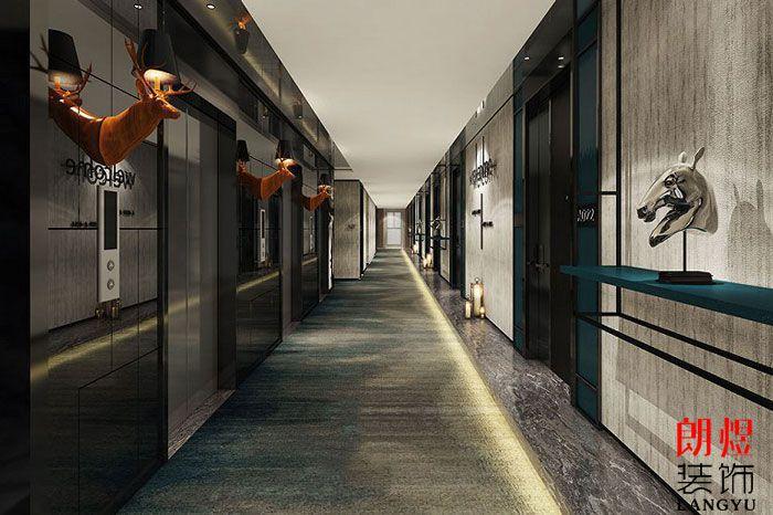 精品酒店装修设计效果图客房走廊