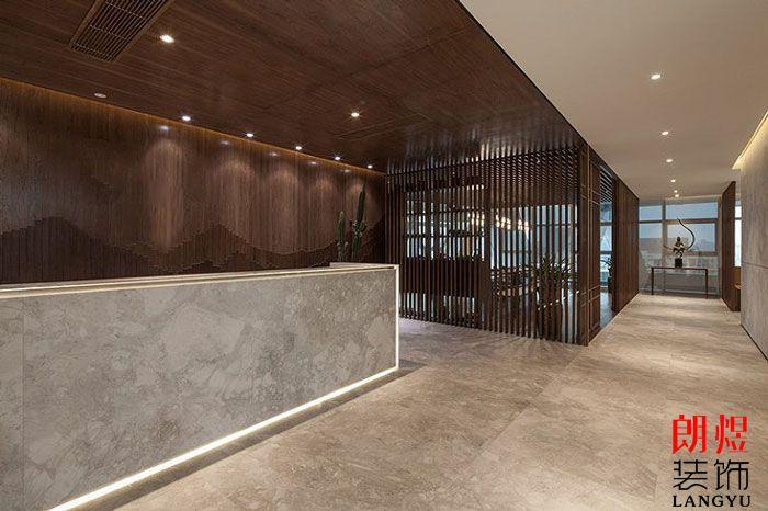 基金公司办公室装修效果图前台