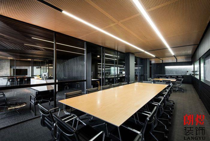 现代工业风办公室会议室效果图