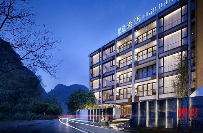 (木质)新中式酒店装修效果图