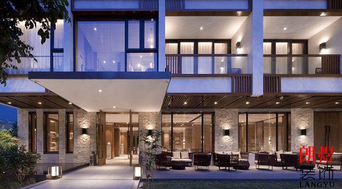 新中式酒店设计效果图