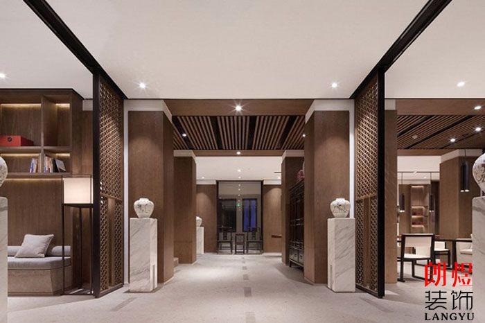 新中式酒店设计酒店入口效果图