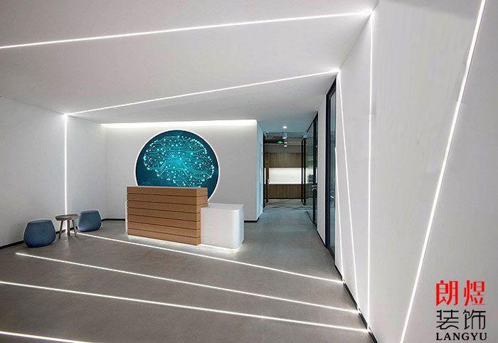 办公空间设计效果图前台