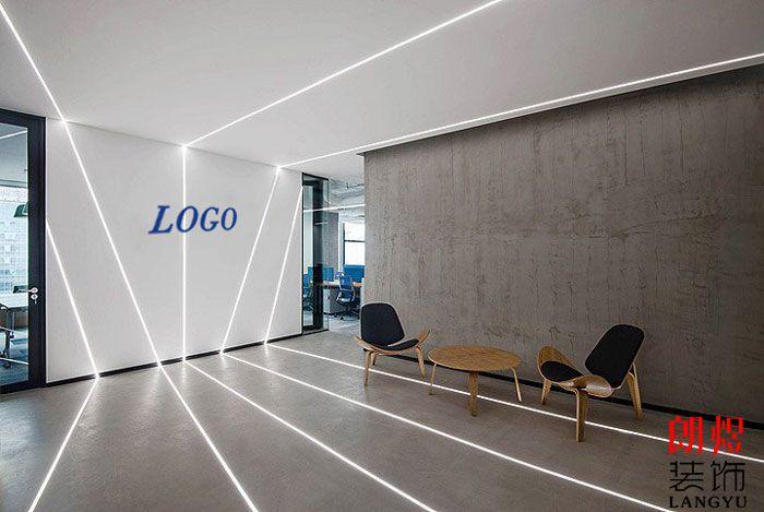 办公空间设计效果图前台大厅