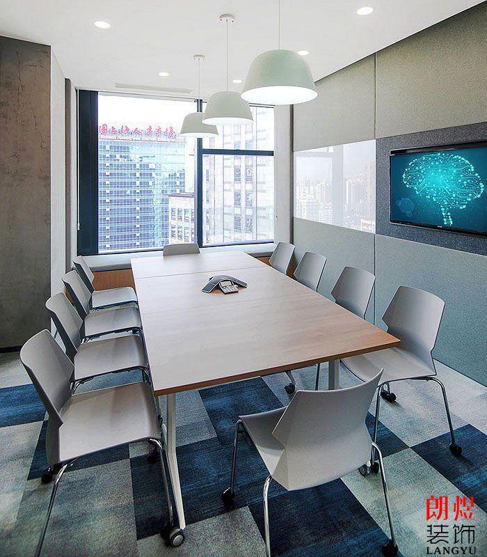 办公空间设计效果图接待室及小会议室