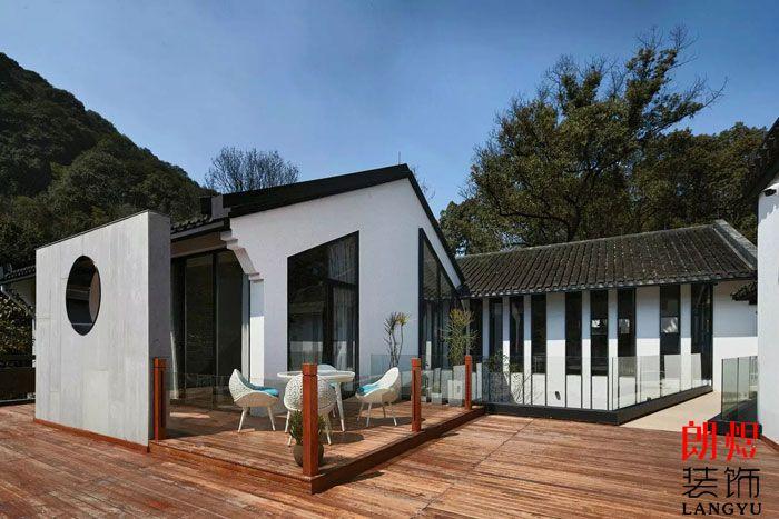 现代风格客栈装修效果图室外阳台