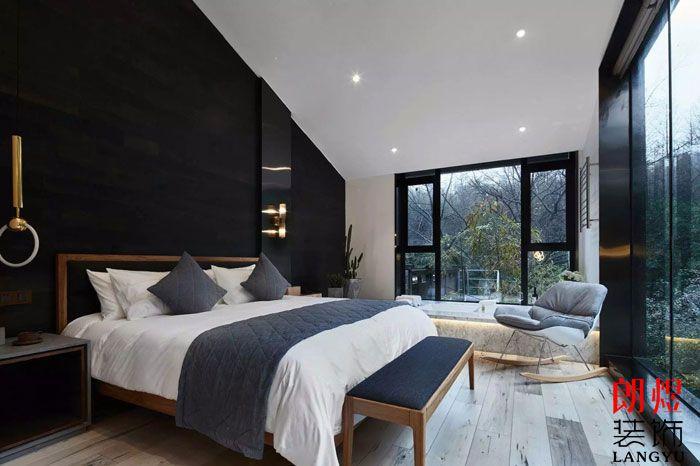 现代风格客栈装修效果图客房