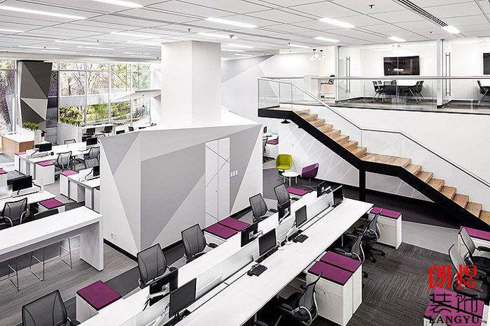工业风办公空间设计整体效果