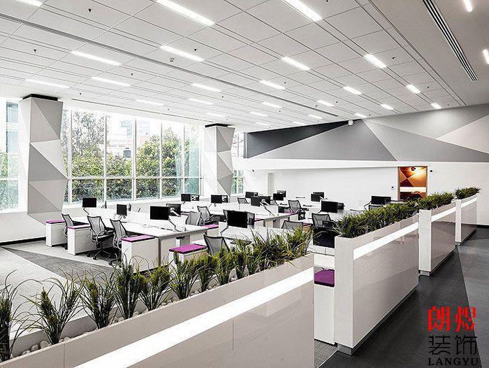 工业风办公空间设计一楼办公区