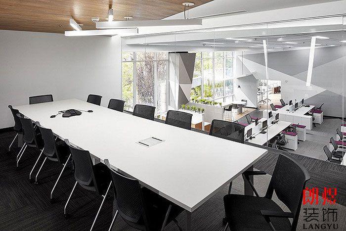 工业风办公空间设计二楼会议室