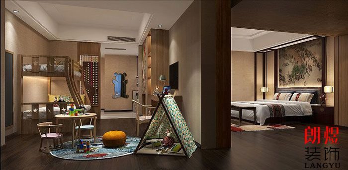 酒店室内装修设计家庭套间
