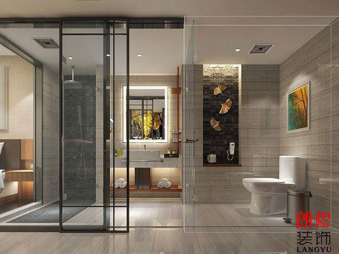 酒店室内装修设计客房洗手间