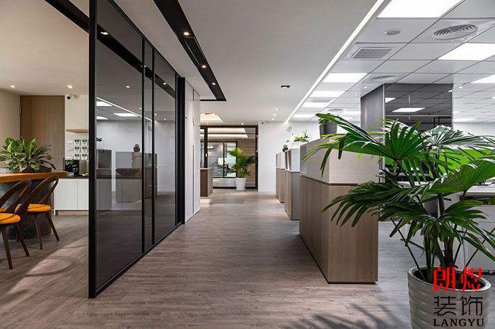 简约办公室设计办公过道