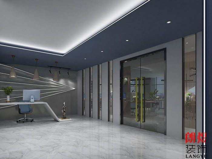 个性办公室设计效果图前台