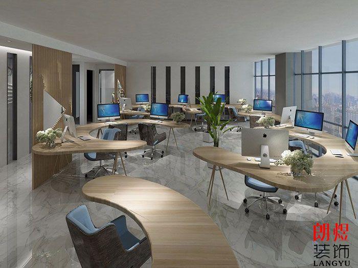 现代个性办公室设计效果图