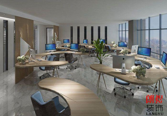 个性办公室设计效果图办公桌