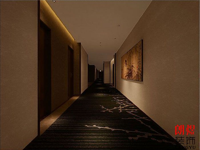 精品酒店设计案例客房走廊
