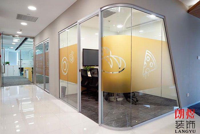 简约风格办公室设计玻璃隔断